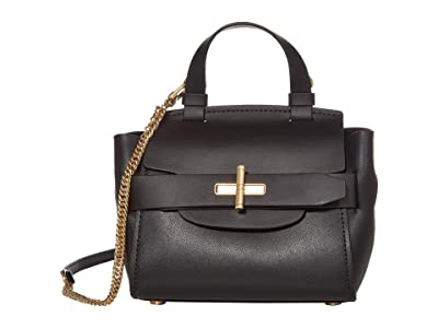 ZAC Zac Posen Brigette Belted Mini Crossbody Solid (Black) Handbags