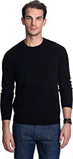 State Cashmere Men's 100% Pure Cashmere Long Sleeve Pullover Crew Neck Sweater