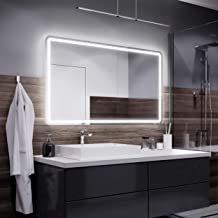 Alasta Madrid Espejo - 140x70cm Espejo de baño con iluminación LED - Bianco Firo LED