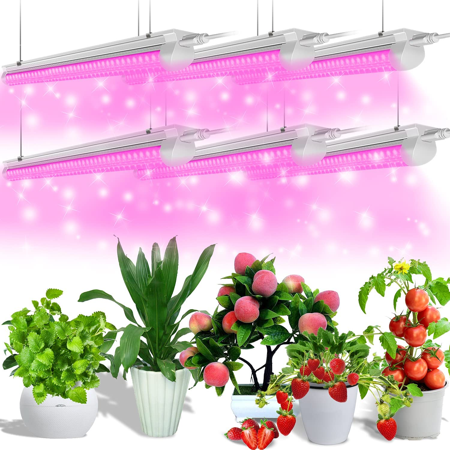 excellence JESLED LED Grow Lights 990W 6 x Plant 30W T8 Output 3ft L High 25% OFF
