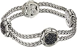 Kali Purelavafire Four-Station Bracelet with Black Sapphire