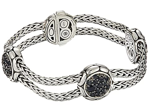 John Hardy Kali Purelavafire Four-Station Bracelet with Black Sapphire