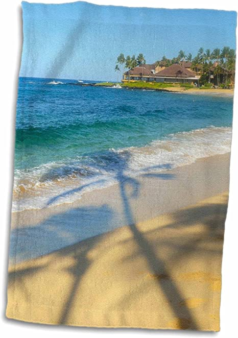 Amazon Com 3d Rose Poipu Beach Kauai Hawaii Hand Towel 15 X 22 Home Kitchen