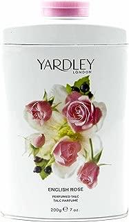 Yardley of London English Rose Perfumed Talc, 7 Oz, Made in England - NEW FORMULA