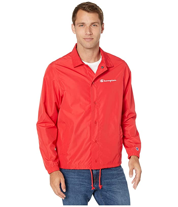 Champion  Classic Coaches Jacket (Scarlet) Mens Clothing