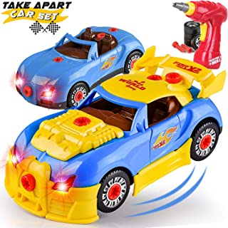 Liberty Imports Kids Take Apart Toys - Build Your Own Racing Vehicle Toy Construction Playset - Realistic Sounds and Light...
