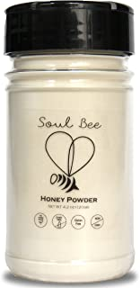 Dehydrated HONEY - NO STICKY MESS - PERFECT TO REPLACE SUGAR IN ANY RECIPE - Cost efficient natural sweetener low in calories - Non-GMO, Gluten Free, Dairy Free, Kosher - Superfood