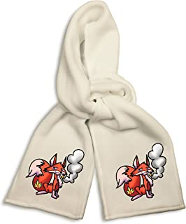White Winter Scarf Pot Smoking Pals Funny Cute Pink Flamingo Joint