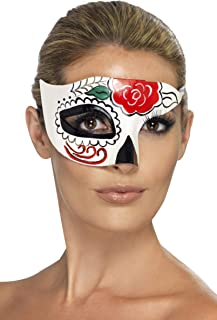 Day of The Dead Half Eye Mask Size: One Size