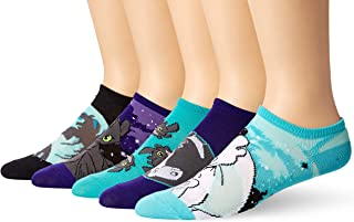 How to Train your Dragon Men's 5 Pack No Show, Purple Assorted, Fits Sock Size 9-11 fits Shoe Size 4-10.5