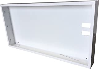 NICOR Lighting Surface Mount Frame Kit Enclosure for 2x4 Ft LED Troffer (SK24)