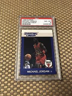 1988 Kenner Starting Lineup Michael Jordan Card Psa 8 Bulls - Unsigned Basketball Cards