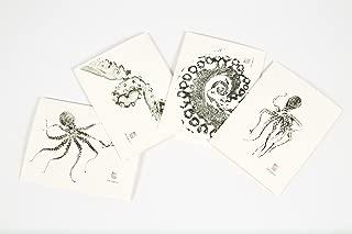 Gyotaku Octopus Notecards (set of 4)