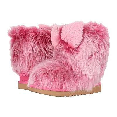UGG Kids Pinkipuff Classic II (Little Kid/Big Kid) (Pink Azalea) Girls Shoes