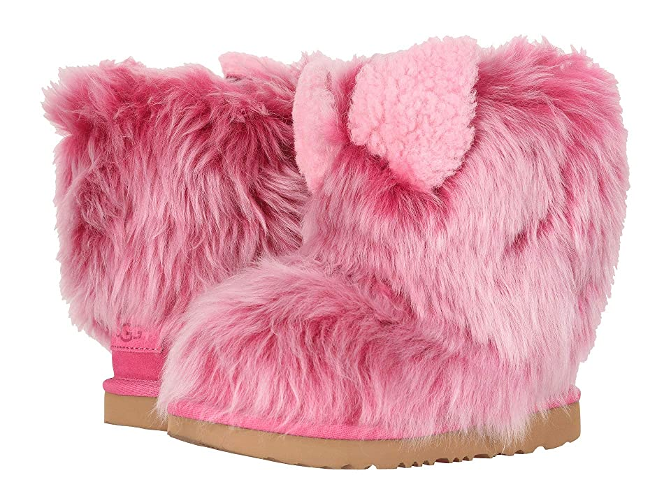 UGG Kids Pinkipuff Classic II (Little Kid/Big Kid) (Pink Azalea) Girls Shoes