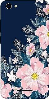 SharpEseller White Pink Flower Multi Coloured Silicone Back Cover for Lava Z61