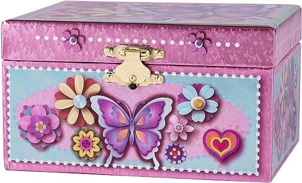 Colorful Butterfly Ballerina Swan Lake Music Jewelry Box
