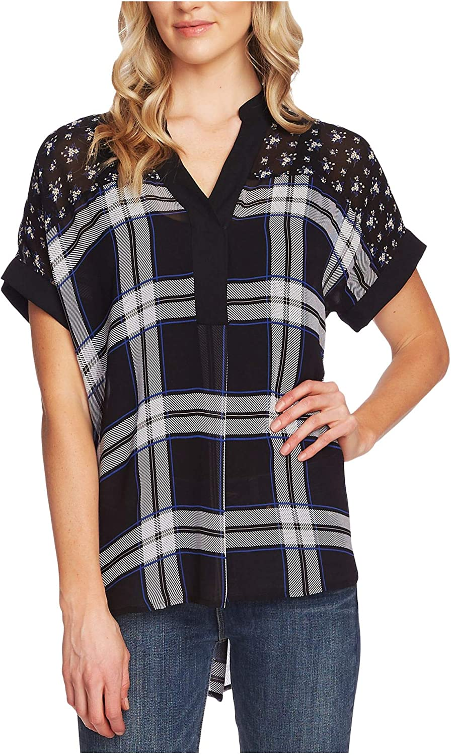 Vince Camuto Women's Dolman Max 56% OFF Blouse Sleeve Print Mixed Fees free!!