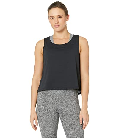 manduka Breeze Crop Top (Black) Women