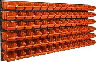 84 stk. Box opslagsysteem wandrek 173 x 78cm stapelboxen schudderkast zichtopslagbakken extra sterke wandplaten plank uitb...