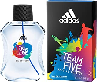adidas Team Five Special Edition Eau De Toilette Spray for Men, 3.4 Fl Oz