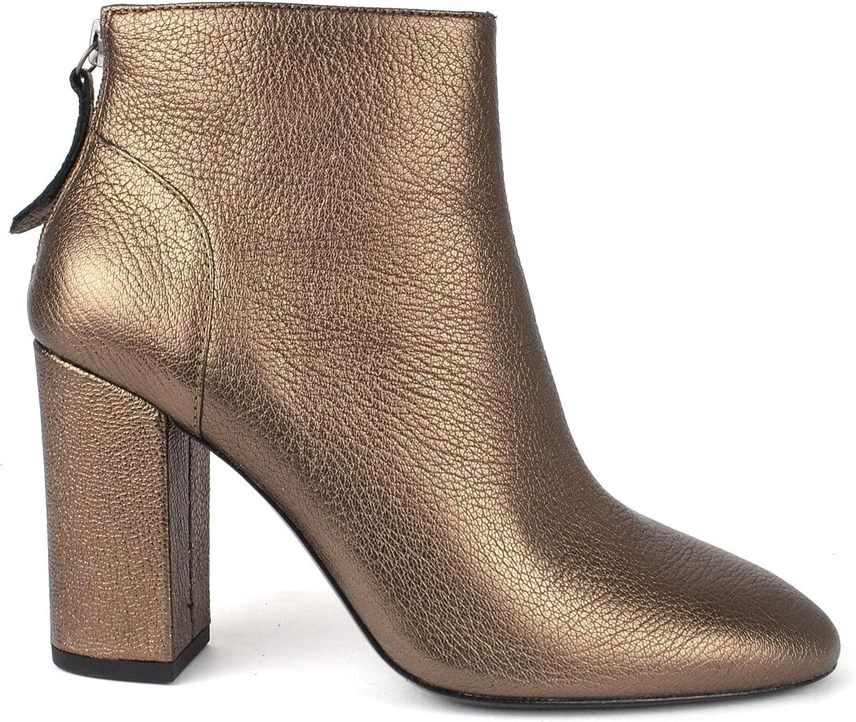 ASH ASH Footwear Joy Stone Goldene Lederstiefel mit Absatz - Damen Stiefel 38 Stone  Online einkaufen