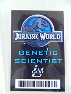 HALLOWEEN COSTUME MOVIE PROP - ID Security Badge Jurassic World (Genetic Scientist)