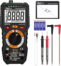 Tacklife DM01M Digital Multimeter TRMS 6000 Counts Manual Ranging, Volt Amp Ohm Multi..