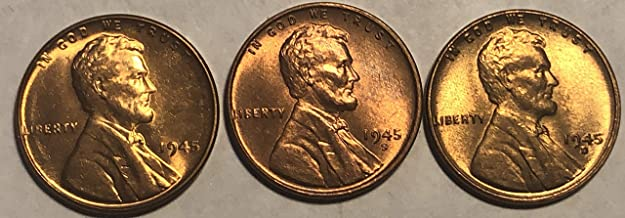 1945 PDS Lincoln WWII Era Wheat Penny Cent MS-63
