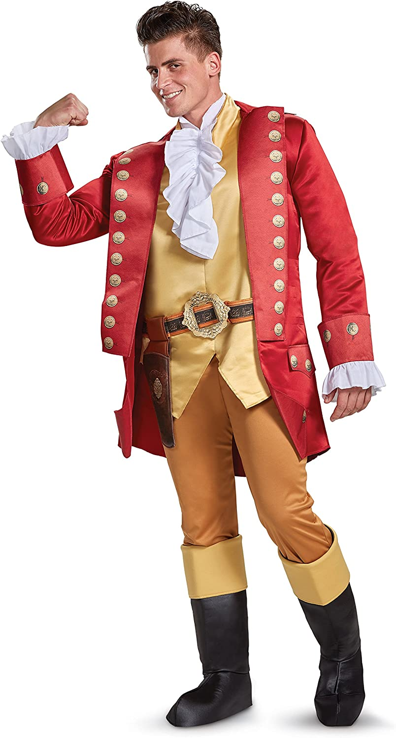 Disguise Beauty and The Beast Gaston Deluxe Men's Fancy Dress Costume X-Large