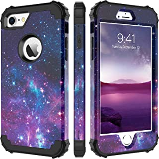 iPhone 8 Case, iPhone 7 Case, BENTOBEN Heavy Duty Shockproof 3 in 1 Slim Hybrid Hard PC Soft Silicone Bumper Space Galaxy Design Protective Phone Case Cover for iPhone 8 /iPhone 7 (4.7