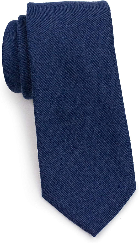 Bows-N-Ties Solid Color Men's Ties in Matte Fabric Finish - Slim Cut Width 2.75 Inch