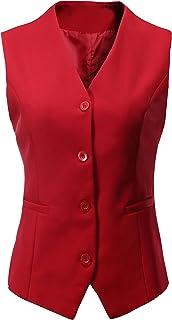 Vocni Women's Fully Lined 4 Button V-Neck Economy Dressy...