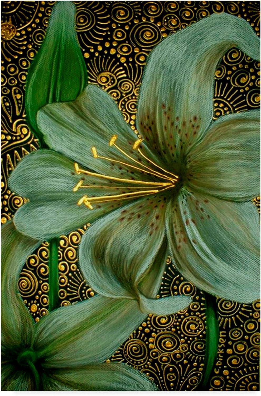 Trademark Fine Art White Tiger Lilies by Cherie Roe Dirksen, 12x19 Fine Art, Multicolor