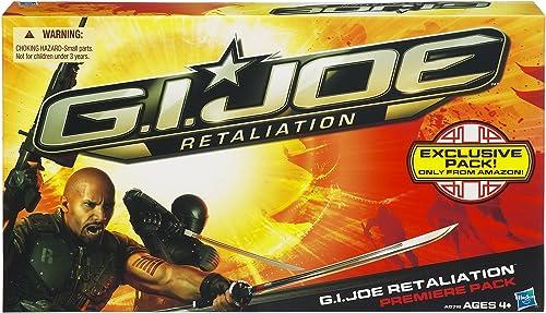 GI Joe Retaliation Premiere Pack mit den Figuren Roadblock, Snake Eyes, Storm Shadow und Cobra Commander von Hasbro