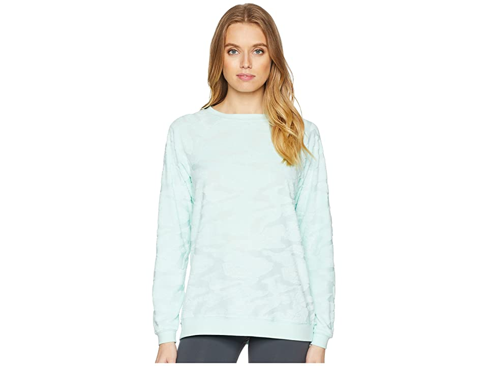 Jessica Simpson TheWarmUp Embossed Camo Pullover (Mint Jewel) Women