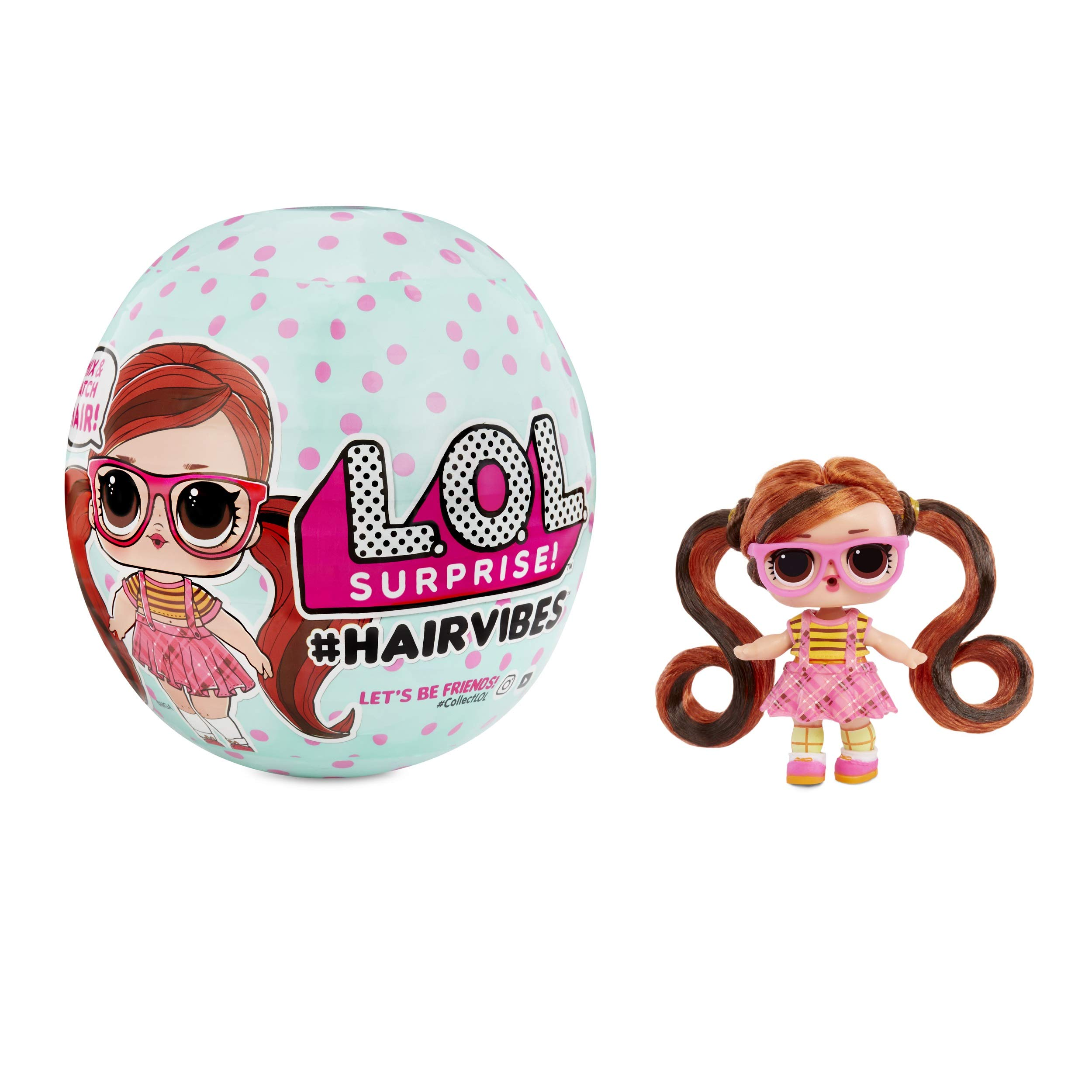 L.O.L 서프라이즈 헤어바이브 돌스 L.O.L Surprise! Hairvibes Dolls with 15 Surprises & Mix & Match Hairpieces