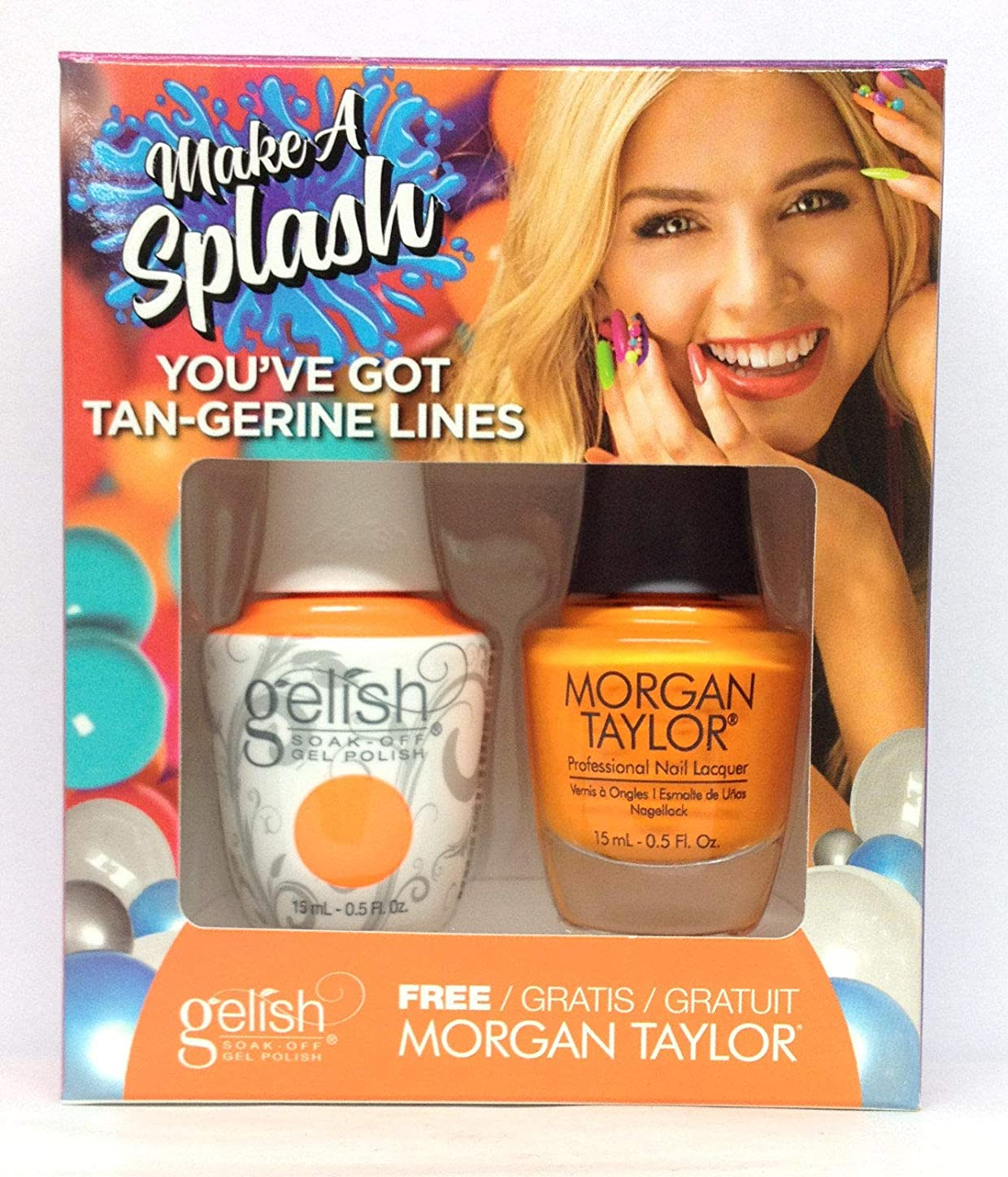 混乱したリクルートステレオHarmony Gelish - Two of a Kind - Make a Splash 2018 Collection - You've Got Tan-gerine Lines
