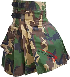New Military Camo Leather Straps Utility Kilts