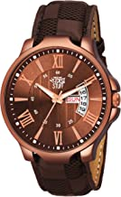 Swadesi Stuff Analogue Brown Dial Leather Strap Watch for Men and Boy