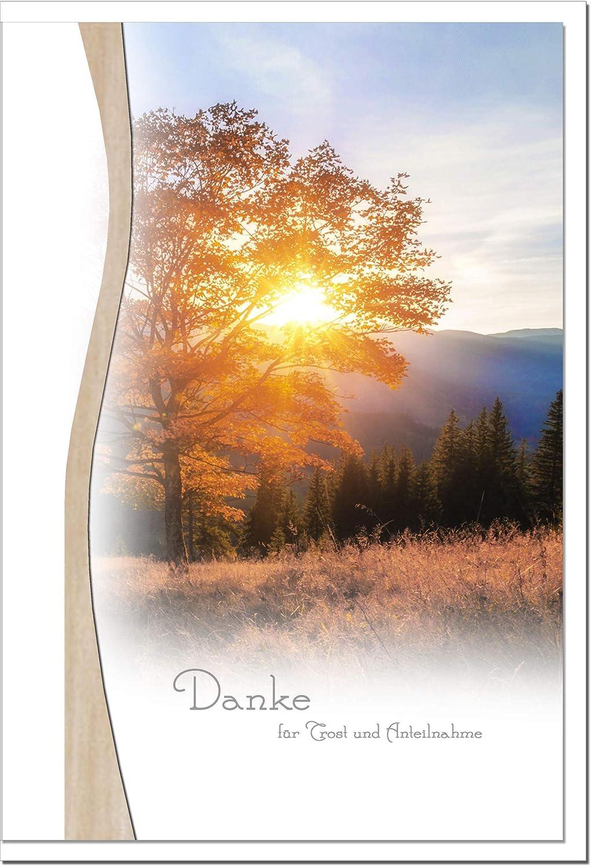 MetALUm Danksagungskarten TRAUER   Sonnenuntergang   25 Karten   1525015 B01BP96P0S   Überlegen