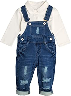 Baby & Toddler Boys Jean Overalls Pants Set