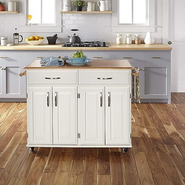 多莉麦迪逊白色厨房购物车的家居风格