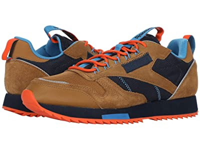 Reebok Lifestyle Classic Leather Ripple Trail (Wild Brown/Collegiate Navy/Cyan) Men