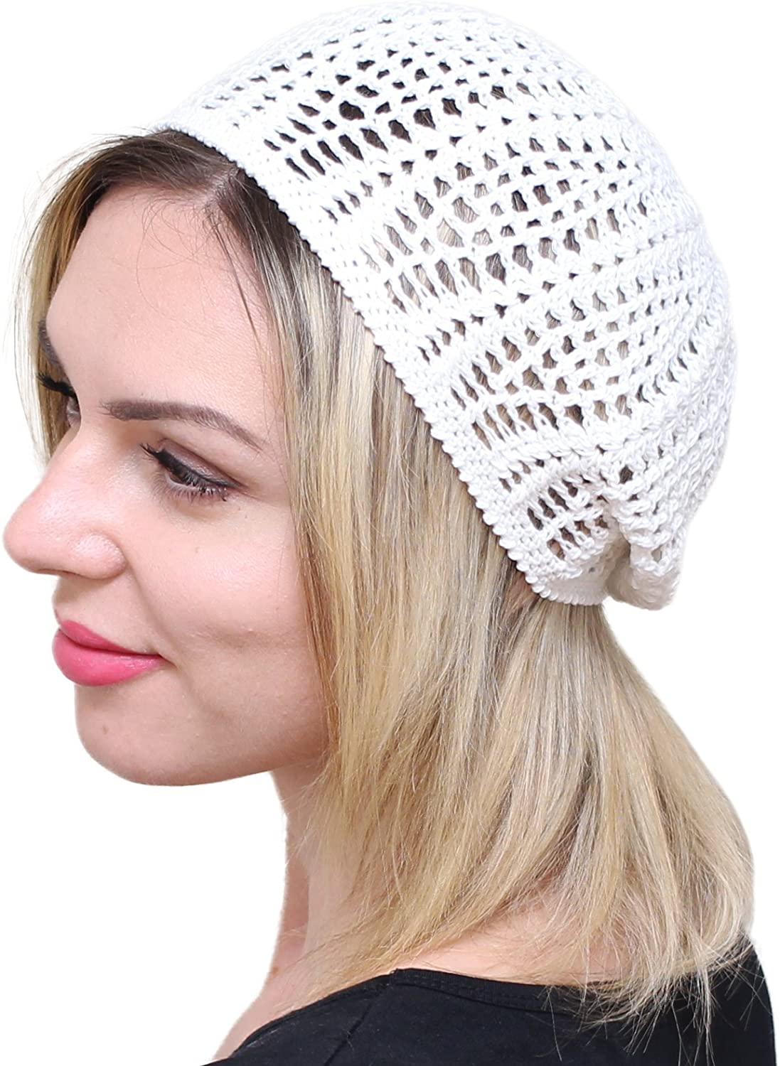 NFB Womens Beret Light Beret Slightly Slouchy Beanie hat Cap Cable hat Hand Knit
