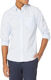 Goodthreads Men's Slim-Fit Long-Sleeve Wrinkle Resistant Comfort Stretch Poplin with Easy-Care