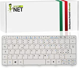 New Net Keyboards - Teclado italiano compatible con Notebook eMachines 350 EM350 Packard Bell ZE6A PAV80 blanco