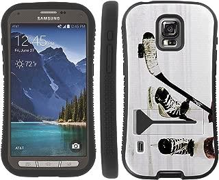 Mobiflare Samsung Galaxy S5 Active Hockey Game KickFlip Grip Shock Proof Armor Artistry Design Phone Case