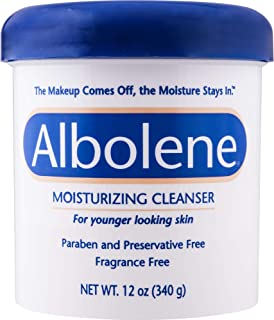 Albolene Moisturizing Cleanser | 3-in-1 Skin Care Product: Makeup Remover, Facial Cleanser and Moisturizer | No Soap or Water Needed | 12 Ounce (Pack of 1)
