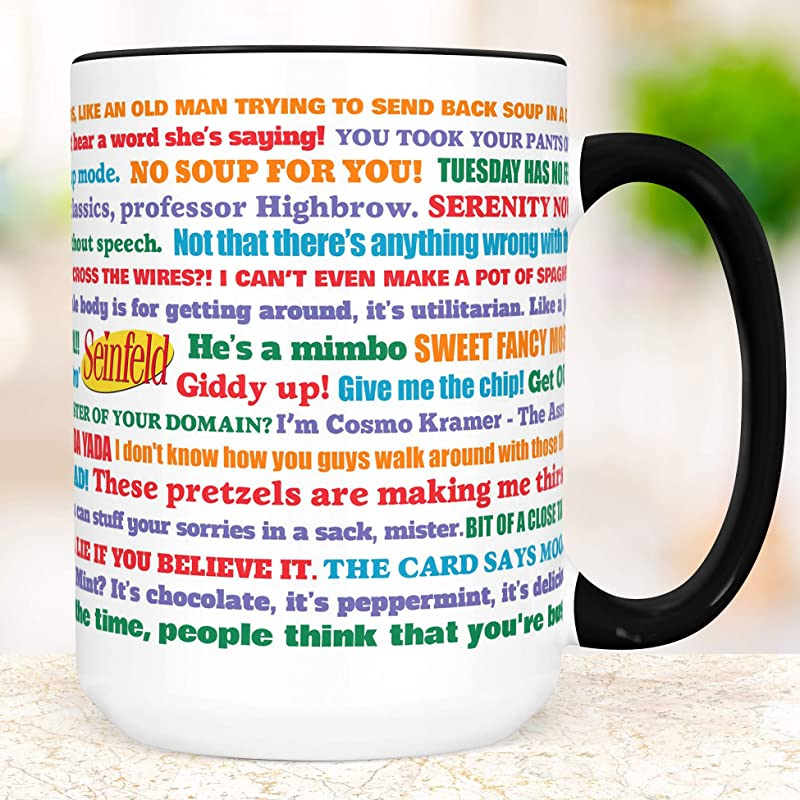 Seinfeld TV Show Coffee Mug Microwave And Dishwasher Safe Ceramic Funny Cup